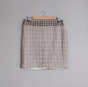 The Limited Tweed Stud Pencil Skirt